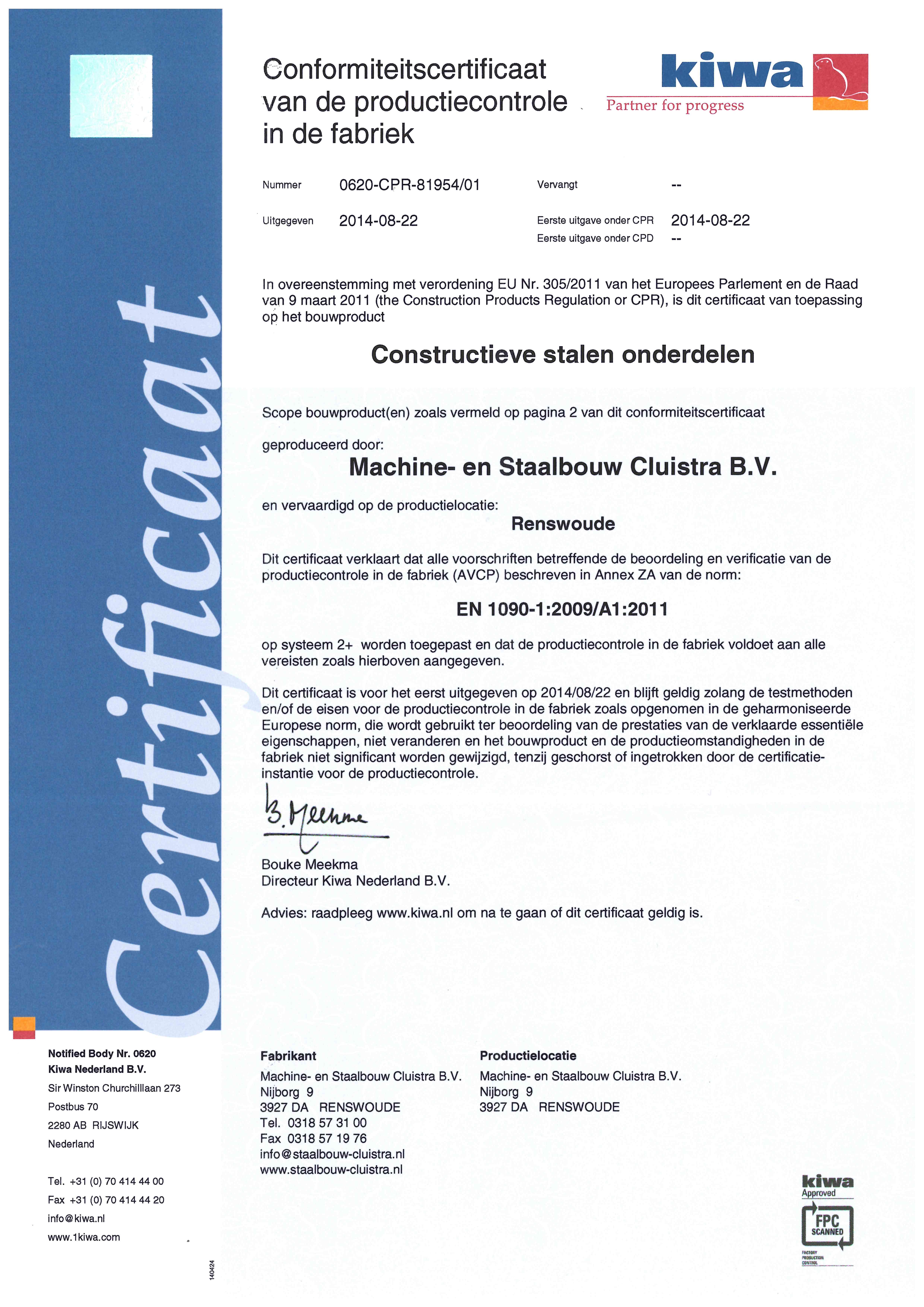 CE certificaat